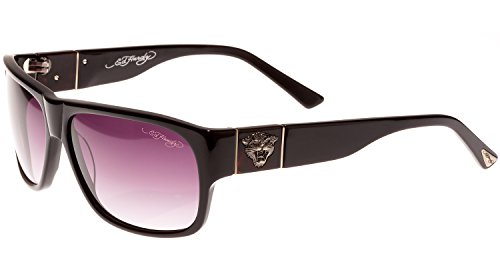 Ed Hardy Tiger Head Sunglasses Black Grey Gradient 62 13 ()