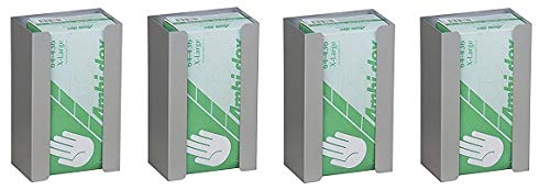 Single Aluminum Glove Box Holder/Dispenser (4-(Pack))