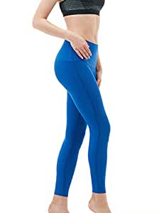 Tesla TM-FYP42-BLU_X-Small Yoga Pants High-Waist Tummy Control w Hidden Pocket FYP42