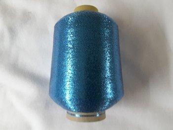 PhiloTeXX 1 Spule Metallgarn GP 42,00 EUR/kg blau türkis 86.000 m/kg Lame Beilaufgarn Glitzergarn 62% Polyester/ 38% Polyamid