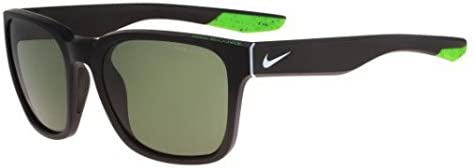 Nike Golf Recover Sunglasses, Matte Black/Wolf Grey Frame, Green Lens