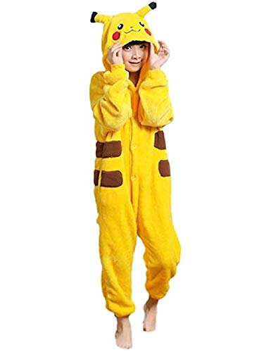 Red Dot Boutique 517 - Anime Unisex Pajama Pikachu Cosplay Costume Yellow Adult Kid S-XL (5) 3-Year-Old (Height 27