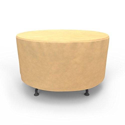 Budge All-Seasons Round Patio Table Cover P5A22SF1, Tan (48 Diameter x 28 Drop)