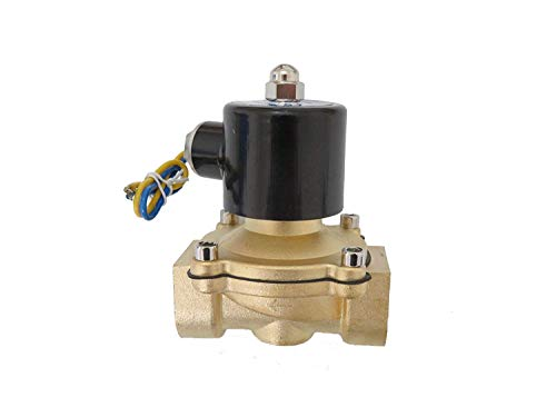 Aquiver Auto Parts New 1 inch 12V DC Brass Electric Solenoid Valve NPT Gas Water Air Normally Closed
