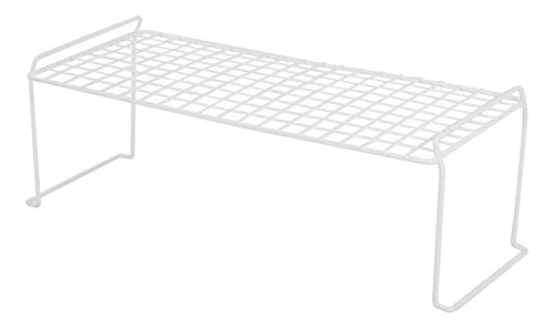 IRIS Stacking Shelf, Medium Long, White (Closet Shelf)