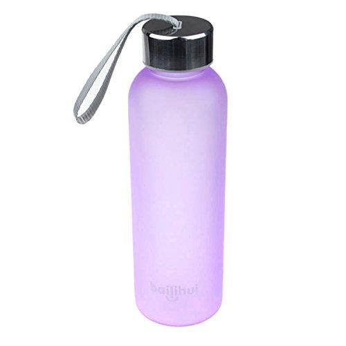HomeTom Leak-Proof Sport Portable Travel Bottle Water Cup 600ML (Purple)