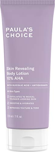 - Paula's Choice Skin Revealing Body Lotion 10% AHA | Glycolic Acid & Shea Butter Exfoliant | Moisturizer for Keratosis Pilaris (KP) Prone Skin | 7 Ounce