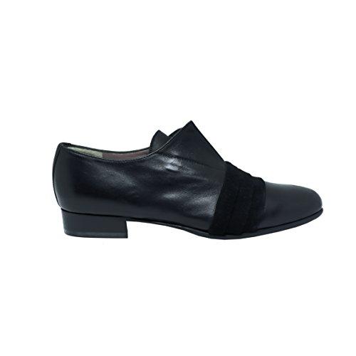 Cuir M1011 Chaussures Lacets QUOQUE À Noir Femme qgv68fRUt
