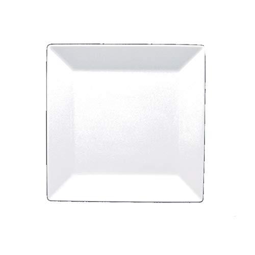 - Fortessa Fortaluxe SuperWhite Vitrified China Dinnerware, Plaza 10-3/4-Inch Square Dinner Plate, Set of 6