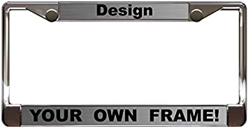 Steel//Black Custom Personalized Black Metal Car License Plate Frame with Free caps
