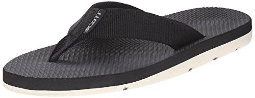 - Scott Hawaii Mens Hokulea Sandals | Size 12 Black Flip-Flop | Non-Marking White Bottoms
