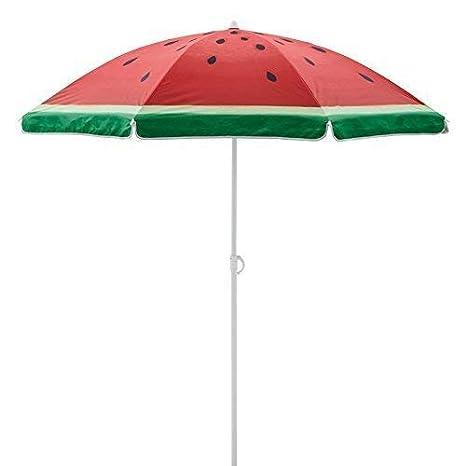 bcd44fddb0 Sand Anchor 6.5 feet Beach Umbrella Outdoor Camping Sunshade Telescoping  Pole Portable UV 100+ Protection Beach Umbrella with Carry Bag Watermelon  ...
