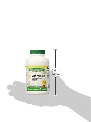 Vitamin D3 2000 IU, 365 Softgels, Soy Free, USP Grade Natural Vitamin D.
