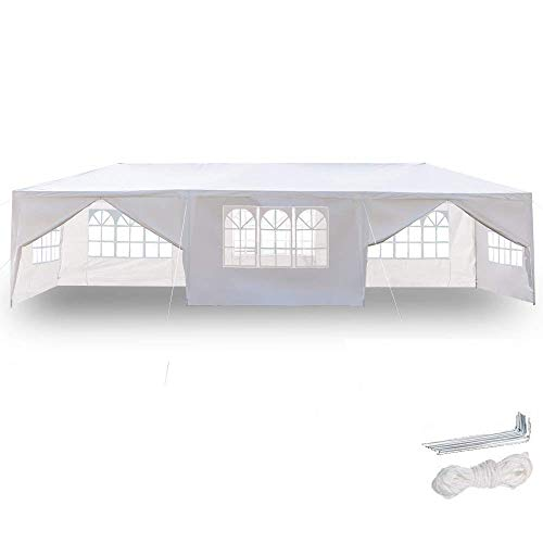 Z ZTDM 10' x30' Outdoor Canopy Tent w/8 Removable Sidewalls,Party Wedding Gazebo Pavilion Patio Catering Event Dancing Canopies,Upgraded Tube Steel PE Cover
