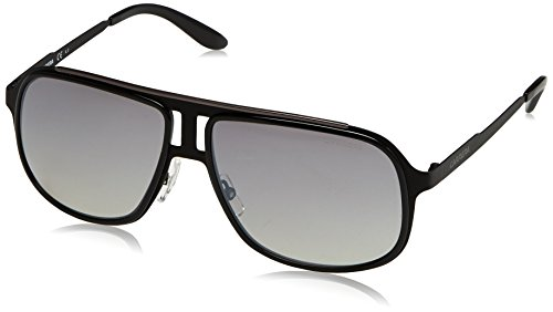 Carrera Men's CA101S Aviator Sunglasses, Black Ruthenium & Gray Mirror Shade Silver, 59 - Carrera Aviator Shades