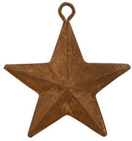Star Ornament Rusty - Heart of America Rusty Star Ornaments - Set of 12