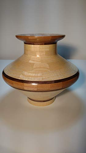 (Wood Segmented Vase, Elm, Walnut, Curly Ash 205 Pieces ... )