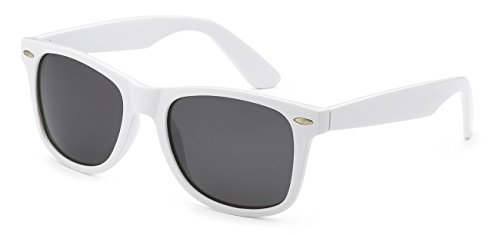 5zero1 Retro Polarized Sunglasses Classic 80's Outdoor Men Women Glasses - White Wayfarers