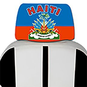 Haitian Car Cover Seat Flag 2 pcs- With, free iphone 6s case or Head band design in your flag color logo. (Haiti Car Seat Covers compare prices)