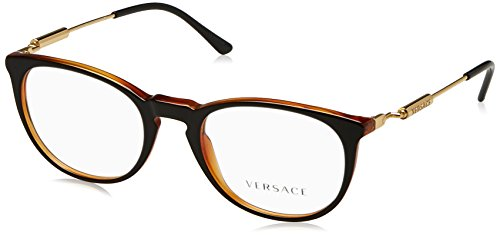 138 Eyeglasses - Versace VE3227 Eyeglass Frames 138-51 - 51mm Lens Diameter Black/Transparent VE3227-138-51