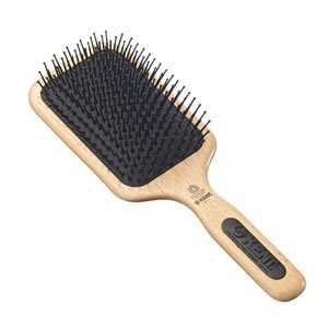 Kent AH1 (PF17) Beechwood Narrow Quilled Large Paddle Mega-Phine Taming Hair Brush - For Grooming and Styling All Hair Types