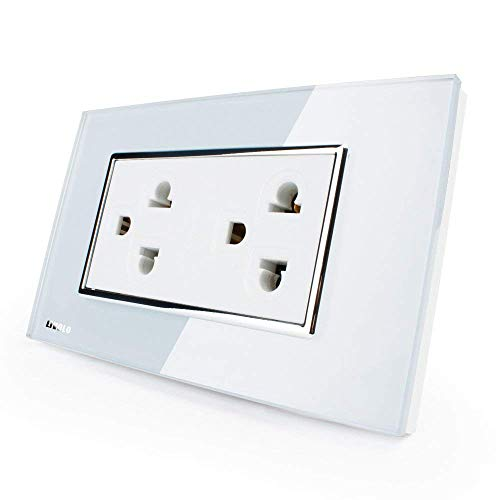 Livolo White Receptacle Standard Duplex Electrical Wall Outlet 15a