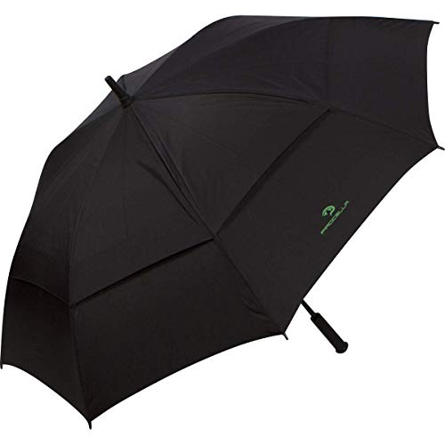 Procella Golf Umbrella 62 Inch Large Oversize Windproof Waterproof Automatic Open Rain & Wind Resistant Vented Double Canopy Best Golf-Sized Stick Umbrellas for Men and Women Sturdy Portable (Black)