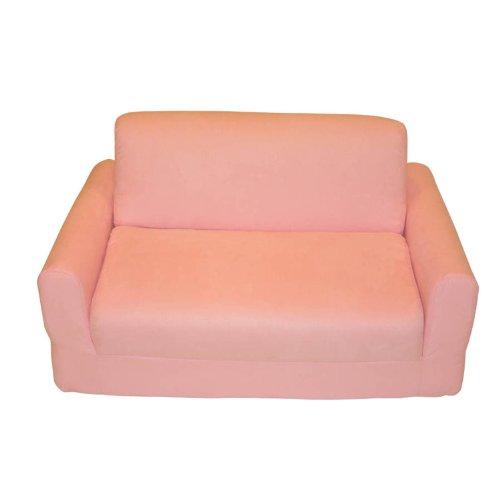 Fun Furnishings Sofa Sleeper, Pink Micro Suede ()