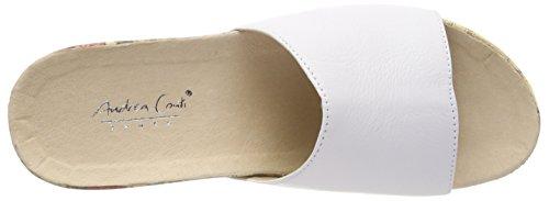Blanc 1545707 Conti 001 Weiß Femme Mules Andrea qUIzwO