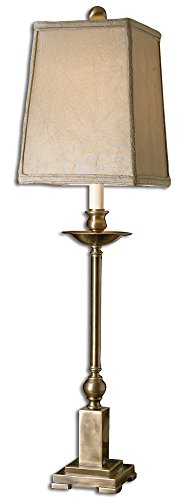 Uttermost 29427-1 Lowell Buffet Lamp 8.5 x 8.5 x 34, Aged Bronze, Lightly ()