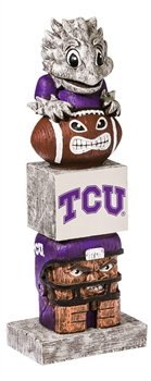 Texas Christian University Horned Frogs Tiki Totem Lawn Garden Statue