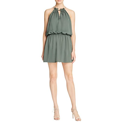 green silk halter dress - 9