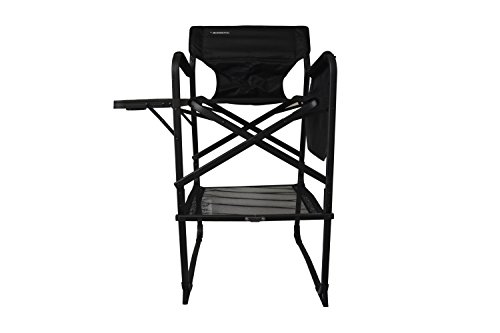extra tall folding directors chair foldable chair with side table xl design black buy online. Black Bedroom Furniture Sets. Home Design Ideas