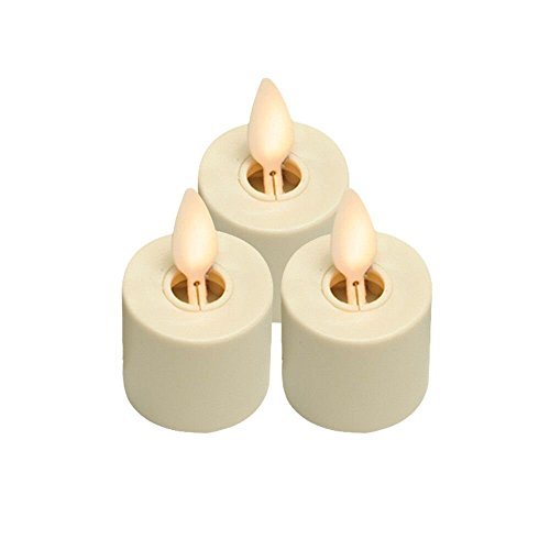 LED Tealights with Remote Control Flameless Candles Recha...