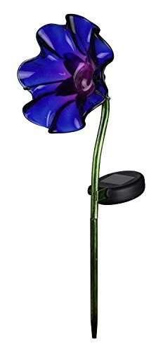 Creekwood - Regal Gifts - Mini Solar POPPY Flower Garden Stake (PURPLE) by Creekwood by Creekwood