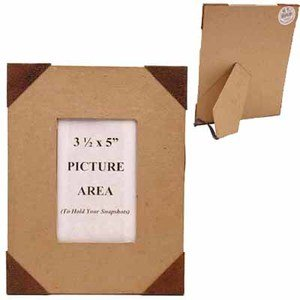 Factory Direct Craft Set of 2 Ready to Decorate Paper Mache Photo Frames with Rusty Tin Corners and Rectangular Photo Opening