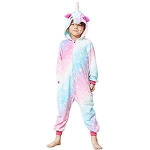 Colorful Unicorn Onesie Pajamas for Kids – Animal Costume for Halloween Cosplay
