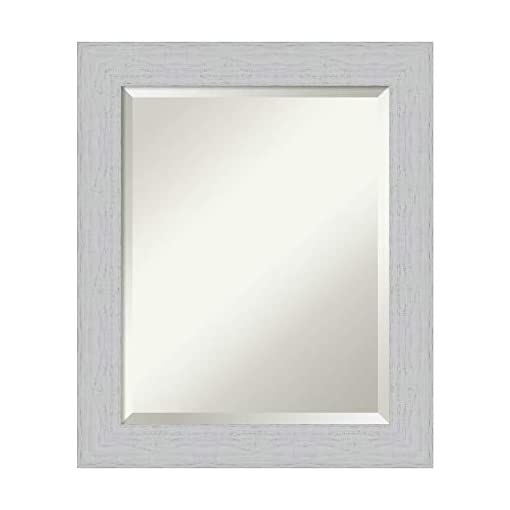 Framed Vanity Mirror Bathroom Mirrors For Wall Shiplap White