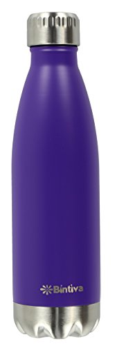 Sports Water Bottle - Vacuum Insulated, Eco Friendly 18/8 Stainless Steel - Double Wall, Sweat and Toxin Free