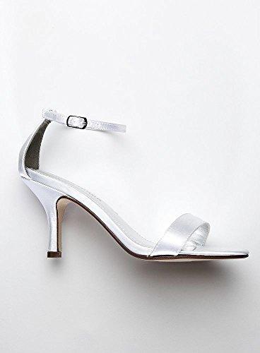 Davids Nuziale Monocolore Sandalo Singolo Stile Sandalo Bianco Nayomiwhite