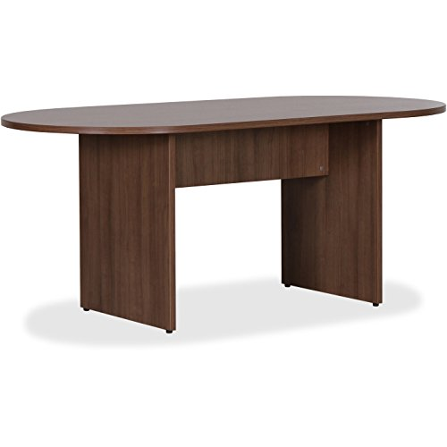 Lorell Essentials Walnut Lamnt Oval Confrnc Table - Edge Oval Top Conference Table