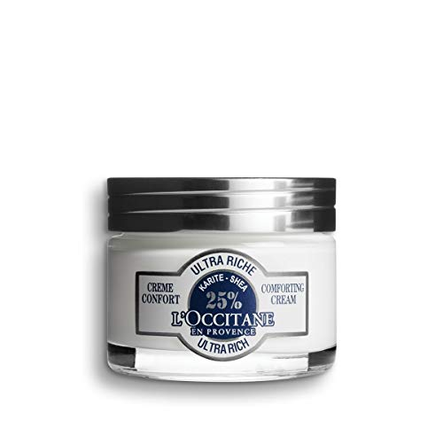 L'Occitane Ultra-Rich 25% Shea Butter Face Cream for Dry to Very Dry Skin, 1.7 Oz