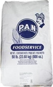P.A.N. Pre-cooked White Corn Meal 50 Pound Bag