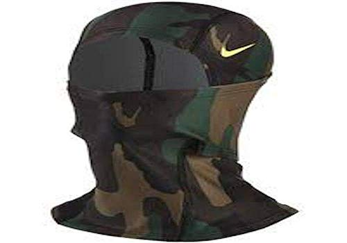NIKE Pro Hyperwarm Hood Iguana/Black Forest/Turkish Coffee OSFM (Face Nike Mask)