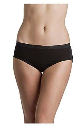 Bonds Women's Underwear Cottontails Midi Brief, Black, 8