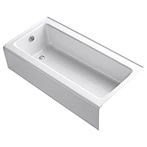 kohler k 837 0 bellwether 60 inch by 30 inch cast iron bath with