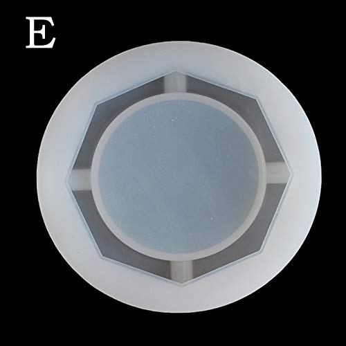 1 piece New Mirror Ashtray Silicone Mold Crystal Epoxy UV Resin Plastic Manual Flower Container Glossy Polished 7A1710 -