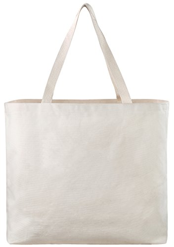 Reusable Canvas Bag - Decorate the Blank Tote Bag with Your Own Custom Design. Double Stitched with Two Sturdy Shoulder Straps. Great Arts and Crafts Project. Made in USA]()
