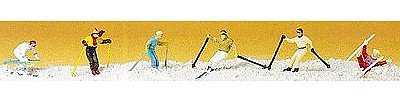 10313 Downhill Skiers pkg(6) HO Scale Figure (Miniatures Ho Scale)