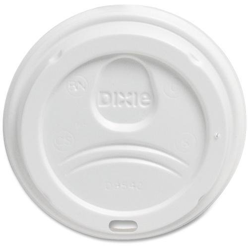 9542500DXCT Dixie Foods Perfect Touch Cup White Plastic Lids - Dome - Plastic - 500 / Carton - White ()